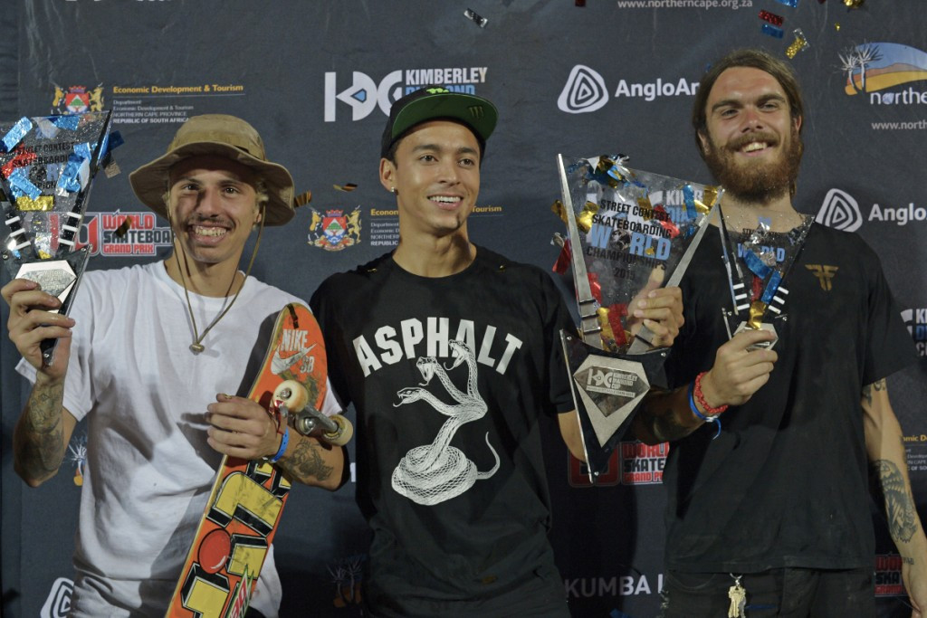 No problem for Huston as American wins men's street title at Skateboarding World Championships