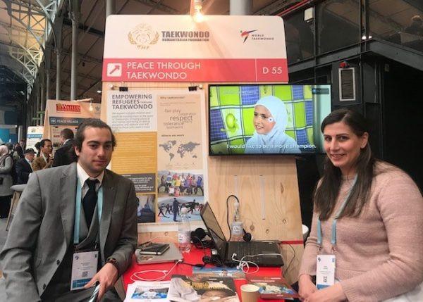 The work of the Taekwondo Humanitarian Foundation was showcased at the inaugural Paris Peace Forum in November 2018 ©THF
