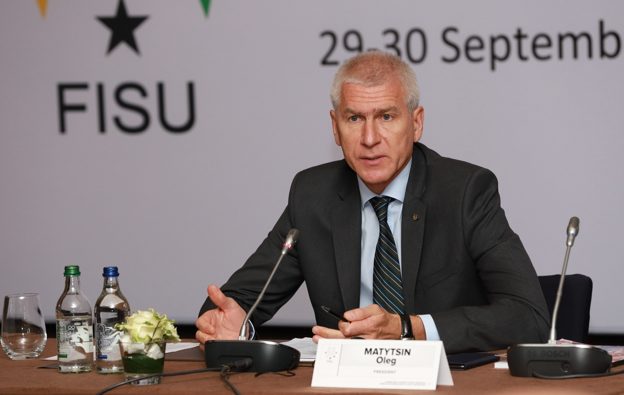 """FISU President Matytsin labels 2018 """"productive"""" in end of year message"""