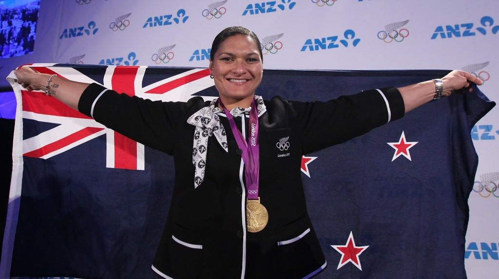 New Zealand's Valerie Adams received her Olympic shot put gold medal at a special ceremony in Auckland after the original winner, Belarussian Nadezhda Ostapchuk, tested positive for banned drugs
