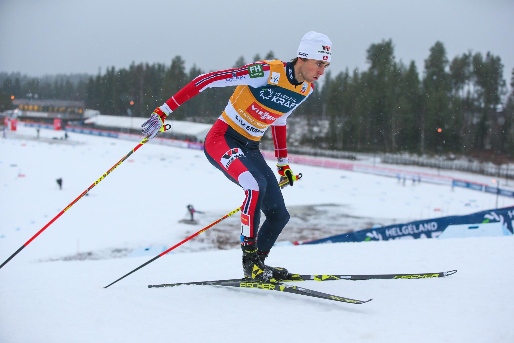 Jarl Magnus Riiber earned back-to-back wins in Otepää ©Getty Images
