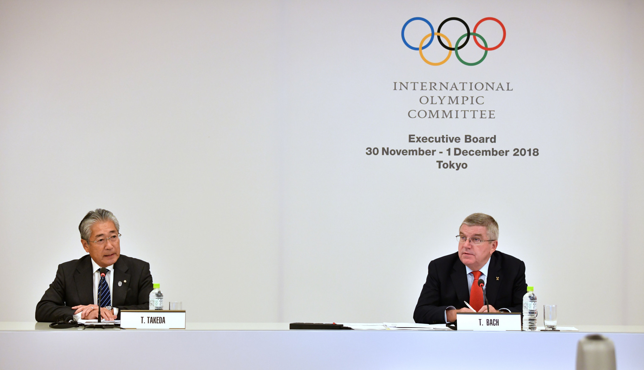 Tsunekazu Takeda, left, is a well-respected IOC member and Japanese sports official ©Getty Images