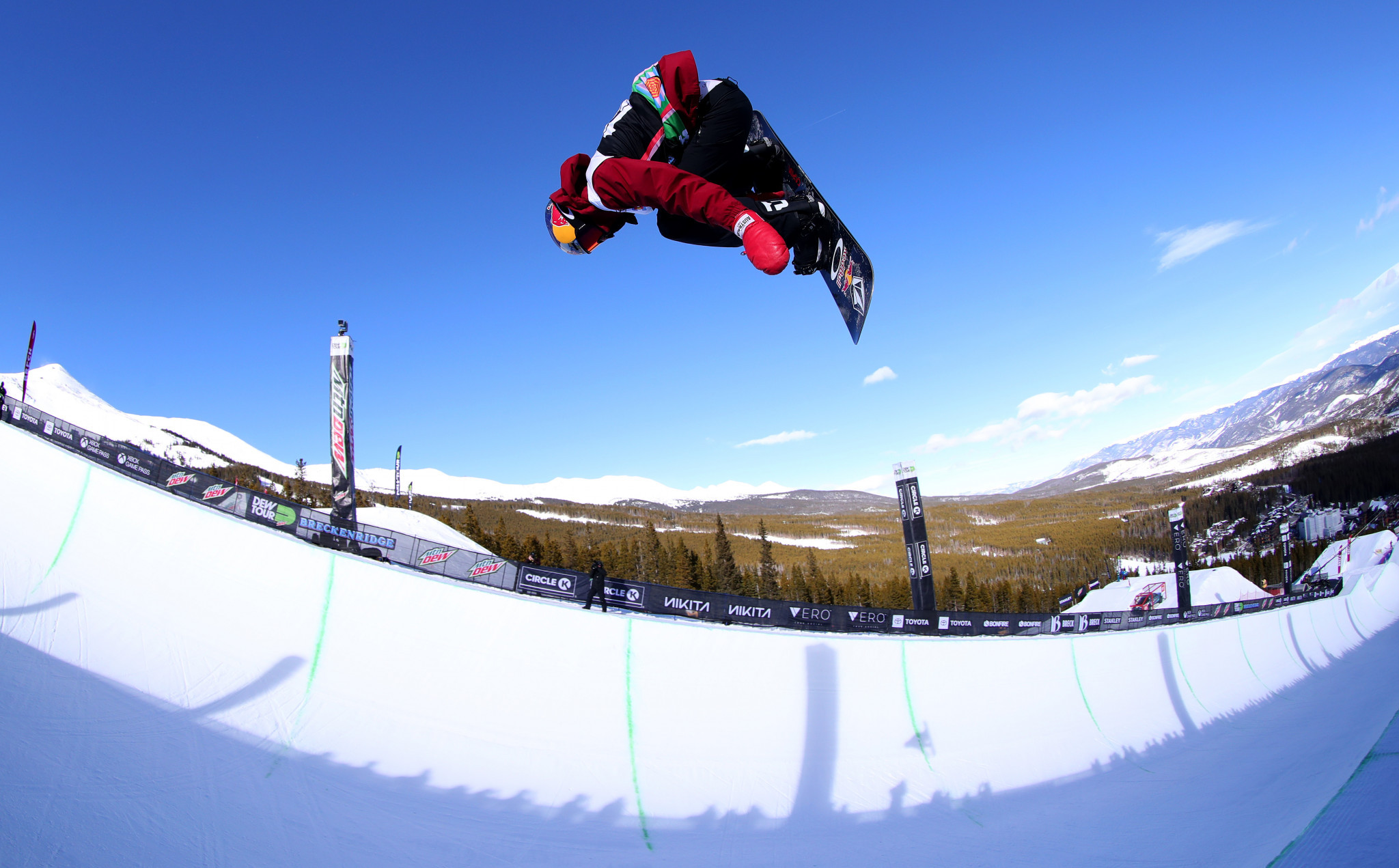 Scotty James of Australia won the men's halfpipe at the FIS Snowboard World Cup in Laax ©Getty Images