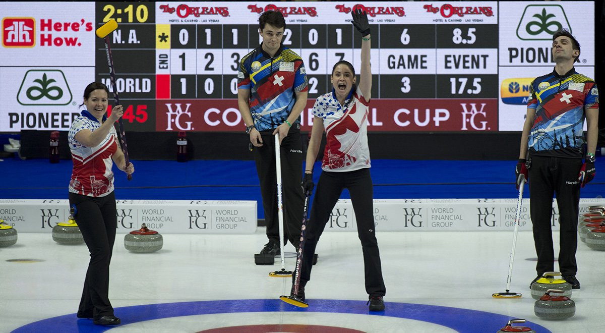 Team North America close gap on Team World at Continental Cup of Curling