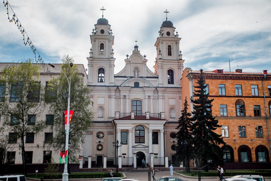 The Cathedral of Saint Virgin Mary has undergone a lot of changes over the years ©Minsk 2019