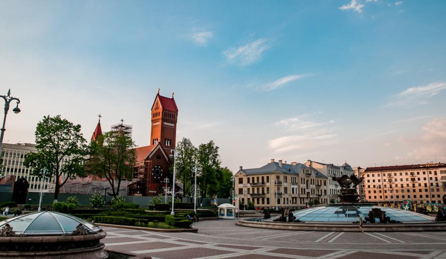 Independence Square is one of the main administrative hubs of Belarus ©Minsk 2019