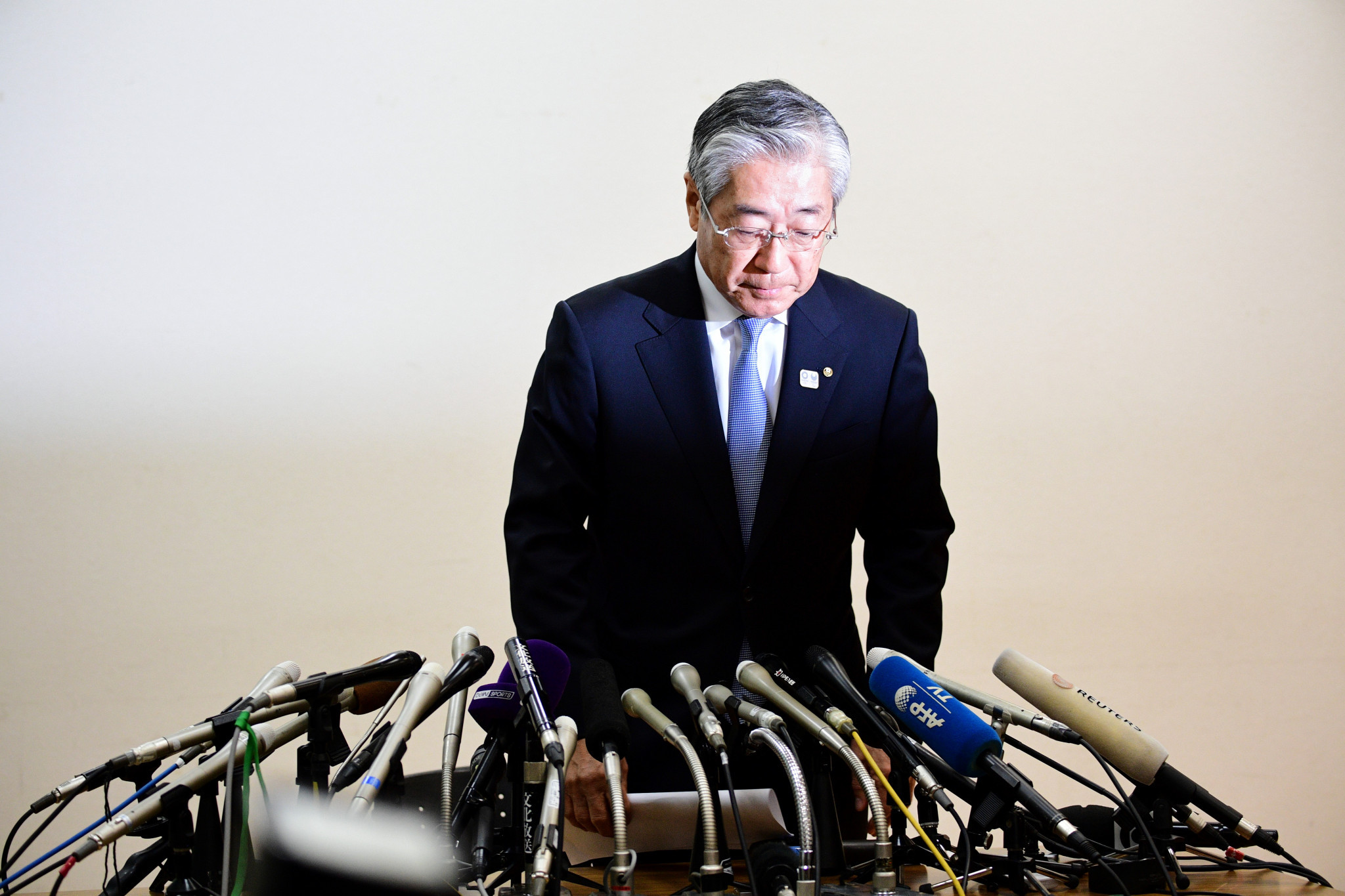 Tsunekazu Takeda should not need to step down as Japanese Olympic Committee President or IOC member while he is being investigated for corruption allegations, claims Tokyo 2020 chief executive Toshirō Mutō ©Getty Images
