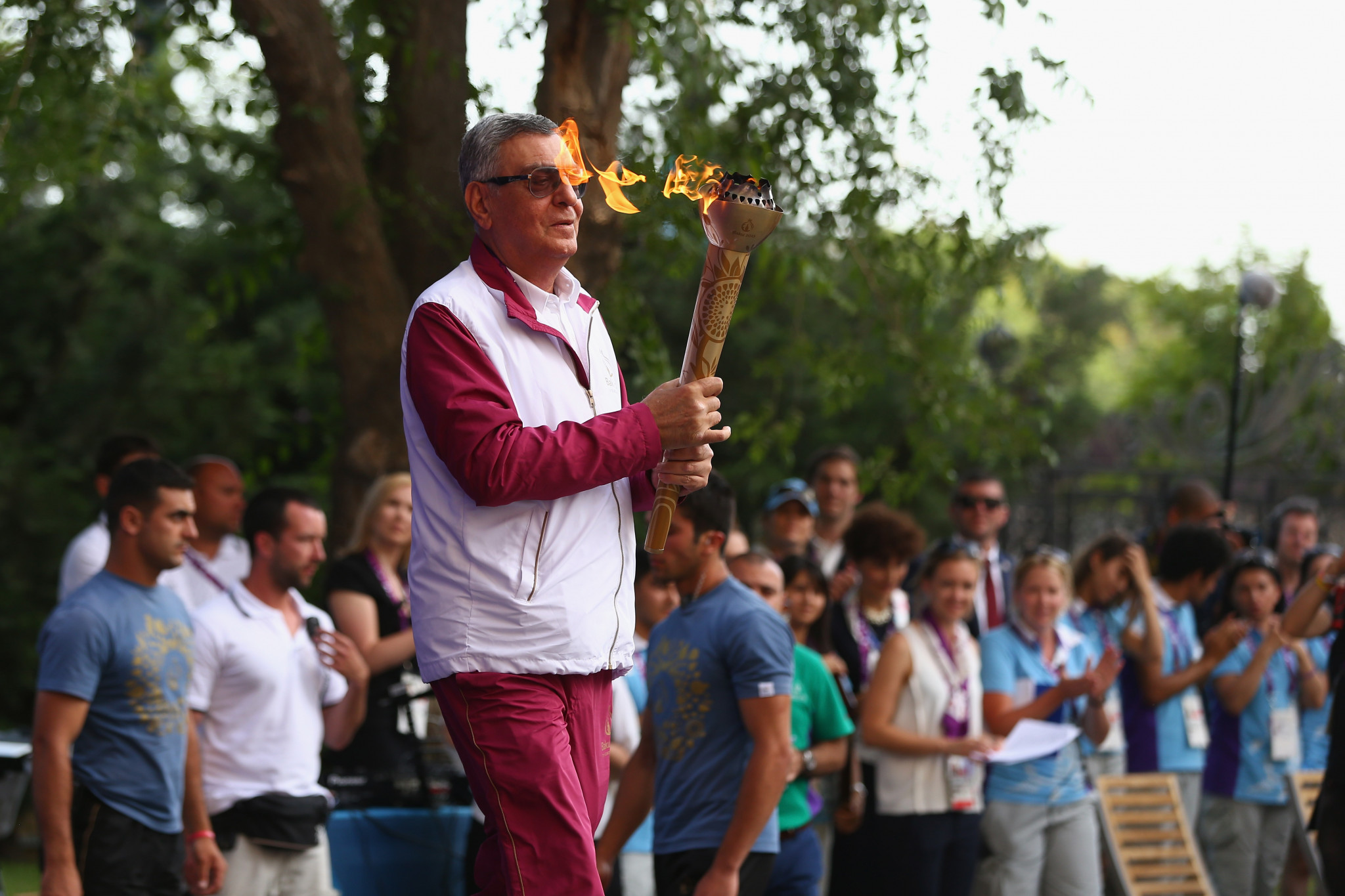 Baku came up with an original approach to their Torch Relay ©Getty Images