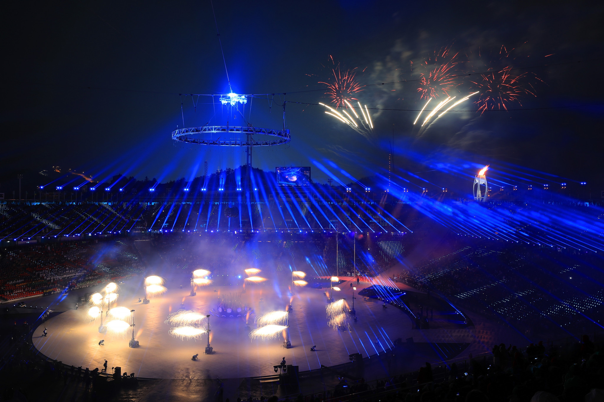 The Opening Ceremony of last year's Winter Olympic Games in Pyeongchang was targeted by hackers last year ©Getty Images