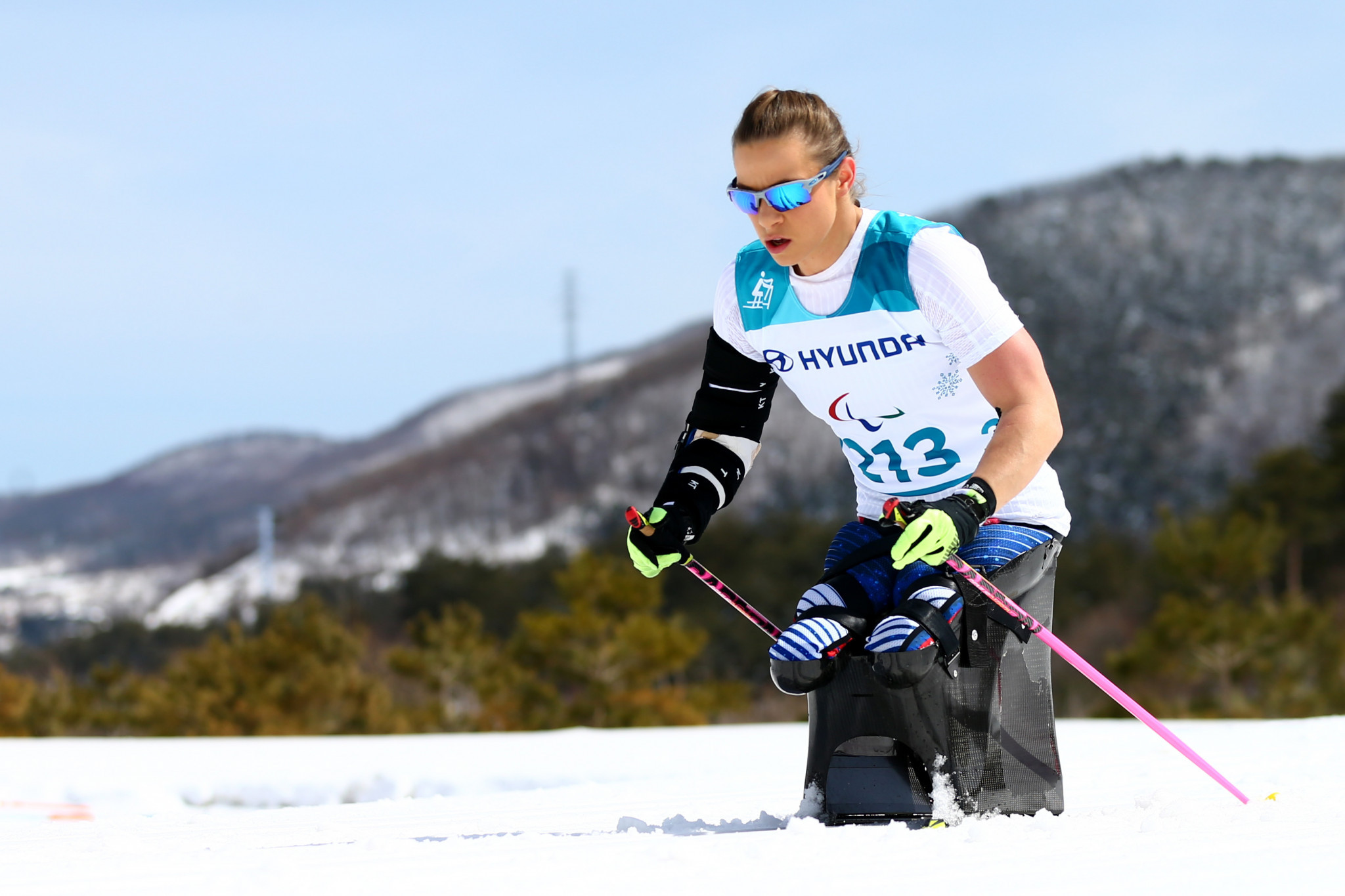 Oksana Masters has been nominated for the Team USA female athlete of the month awarc for her performance at the Para Nordic Skiing World Cup ©Getty Images