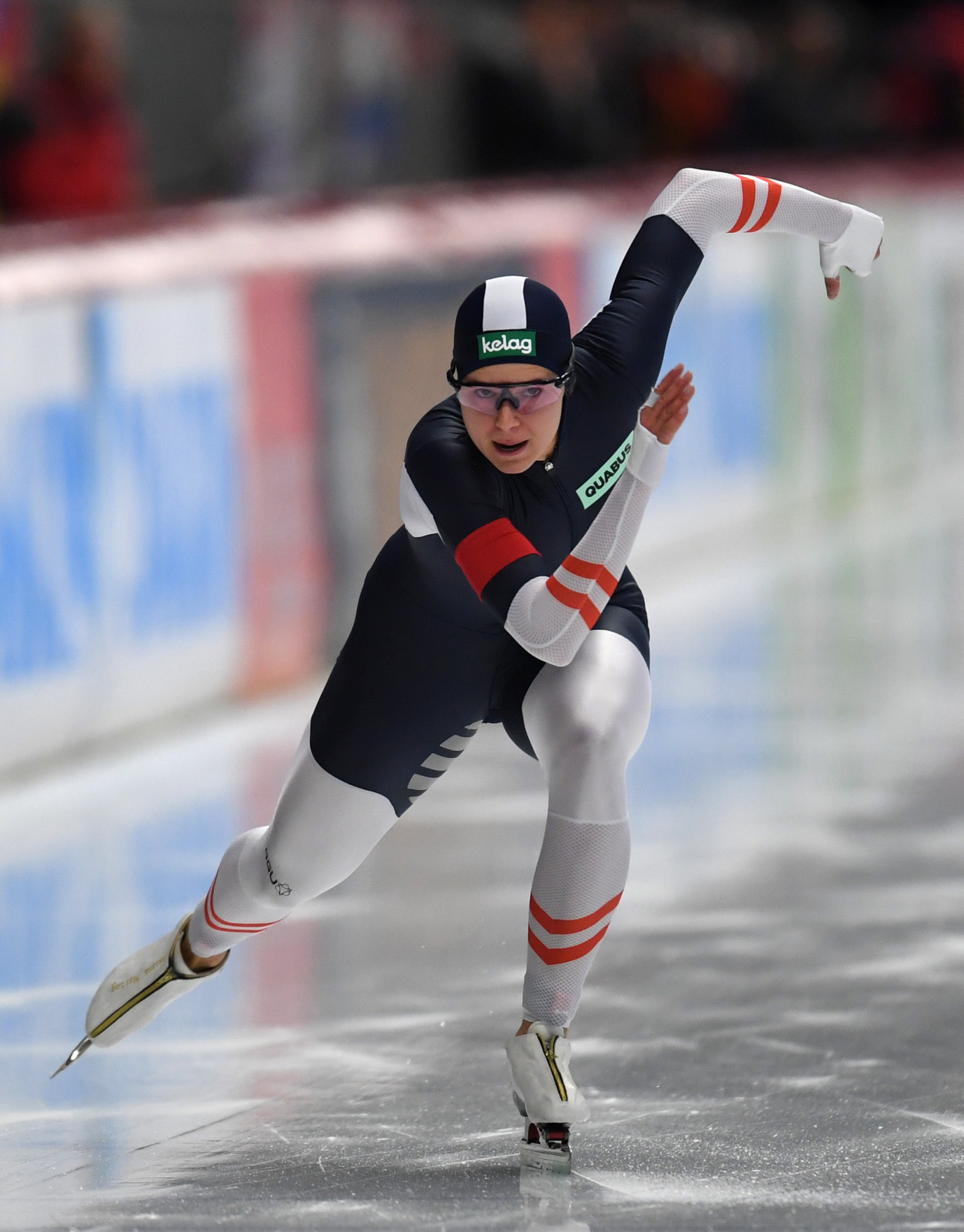 Austria's Vanessa Herzog upset Japan's Nao Kodaira to win the women's 500 metres title at the World Single Distances Speed Skating Championships ©Getty Images