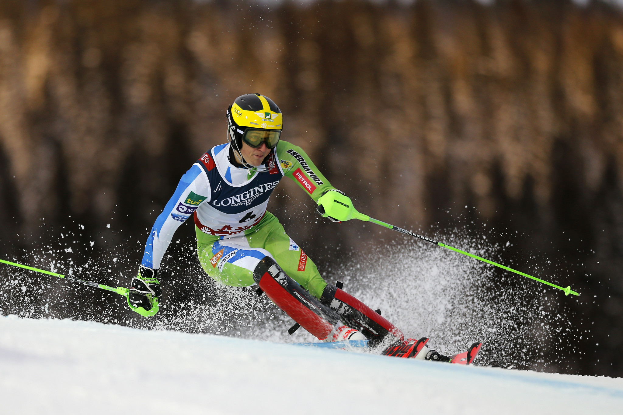 Slovenia's Stefan Hadalin finished as the silver medallist ©Getty Images