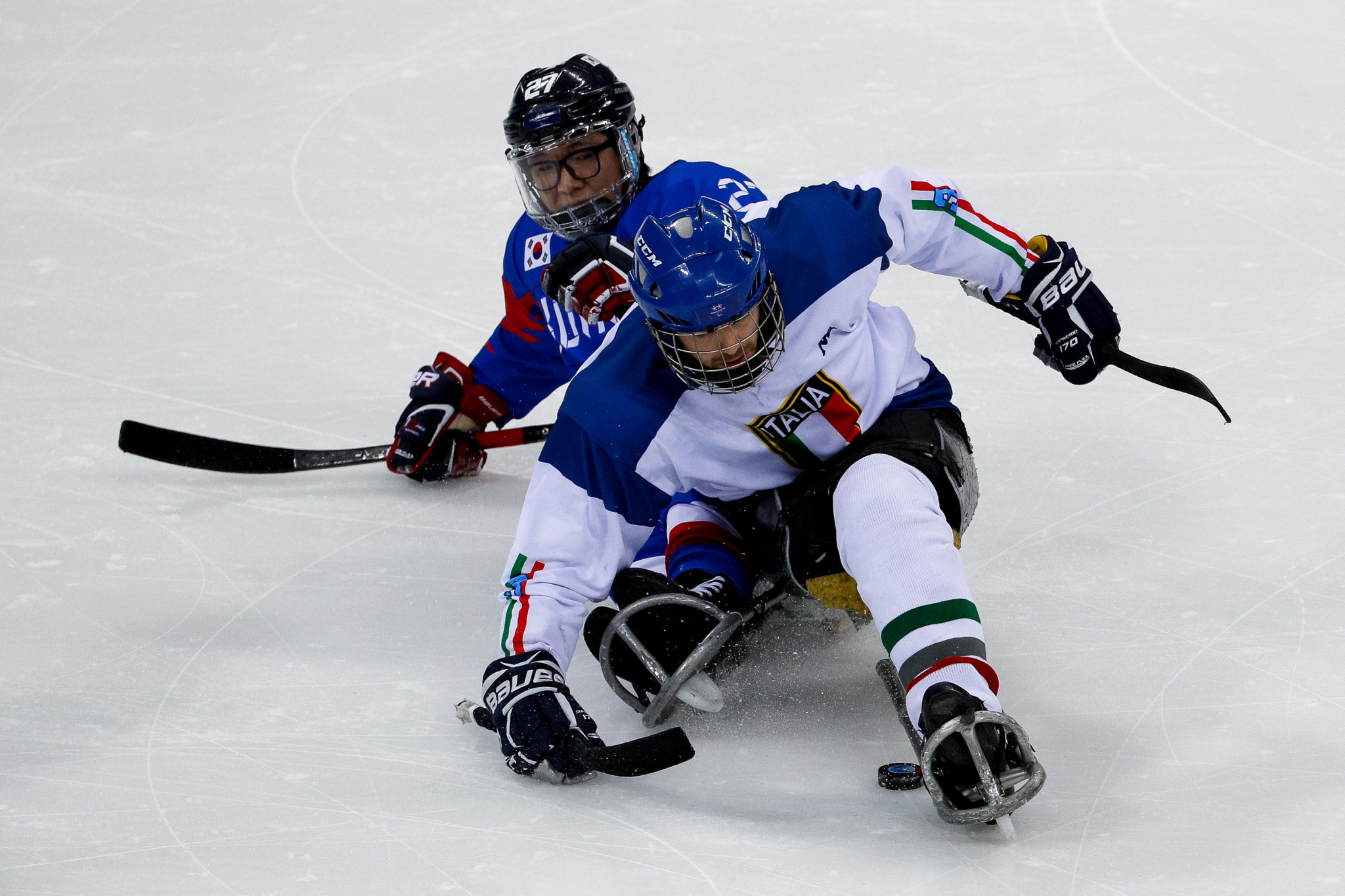 Gianluigi Rosa played in all four of Italy's matches at the 2018 Winter Paralympic Games in Pyeongchang ©Getty Images