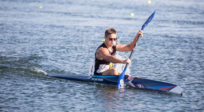 New Zealand's Ashton Reiser won three 200m golds on the opening day of the ICF Oceania Canoe Sprint Championships ©Canoe Racing New Zealand
