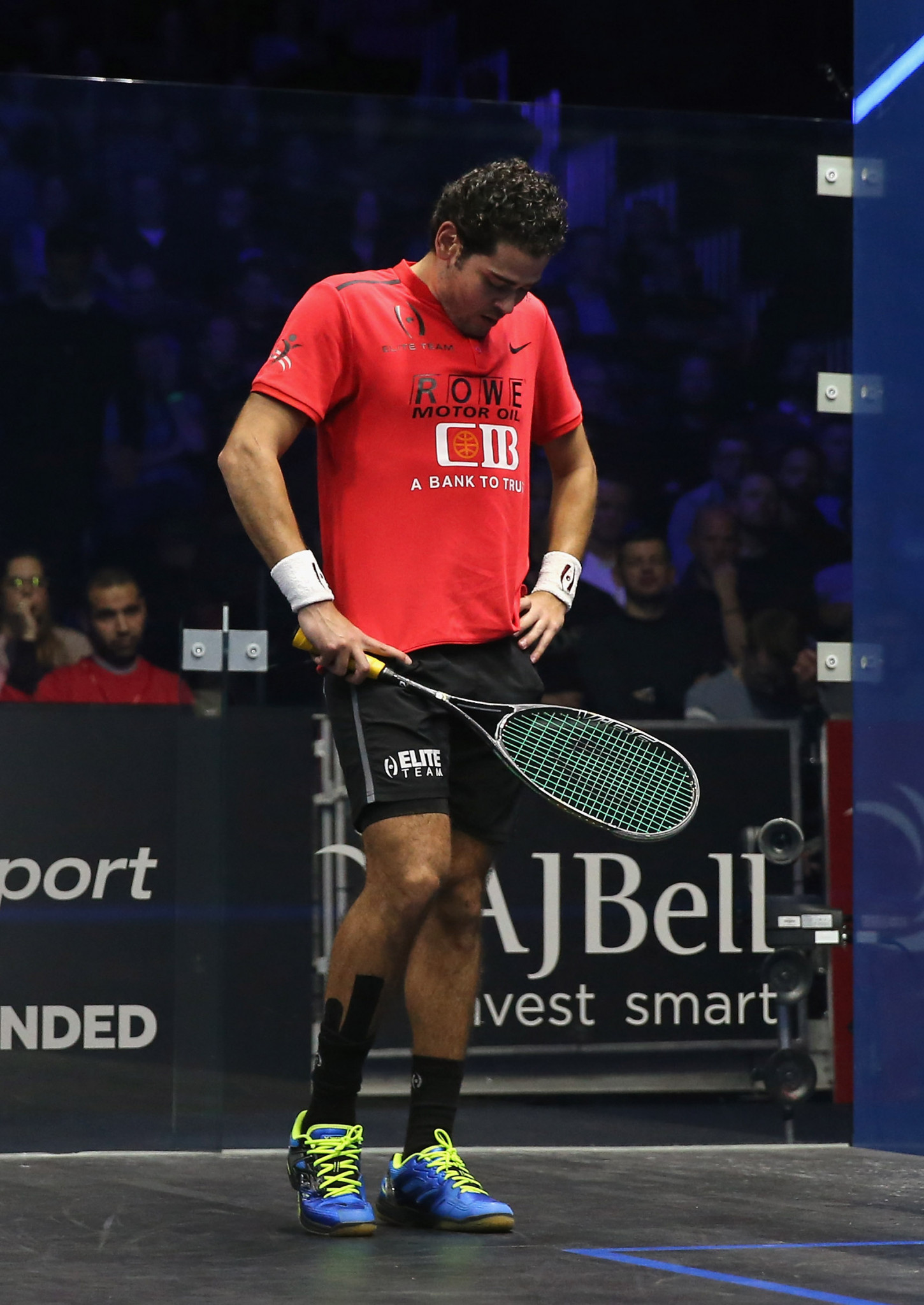 Karim Abdel Gawad has been knocked out of the 2019 World Squash Championships in the first round ©Getty Images