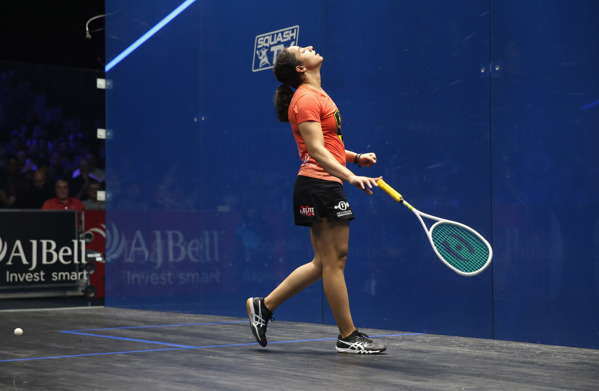 Defending champion Raneem El Welily comfortably won her first match in the women's draw ©Getty Images