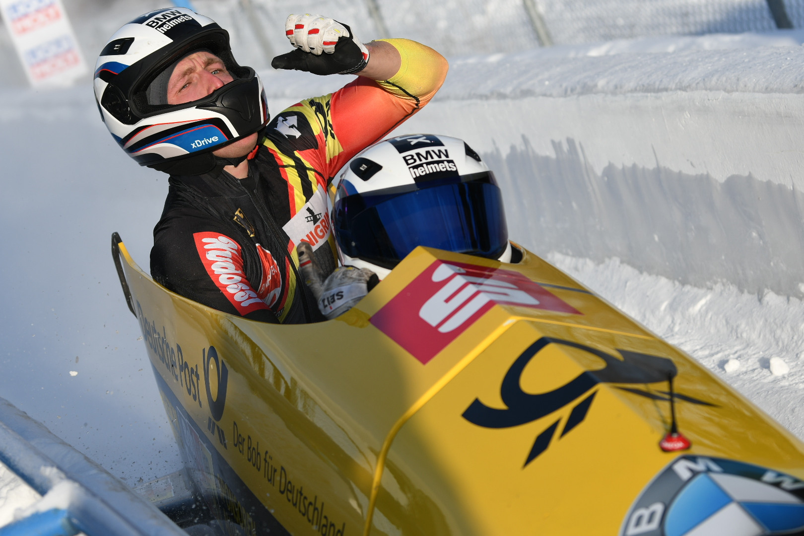 Two-man victory in Calgary seals historic unbeaten season for Friedrich at IBSF World Cup