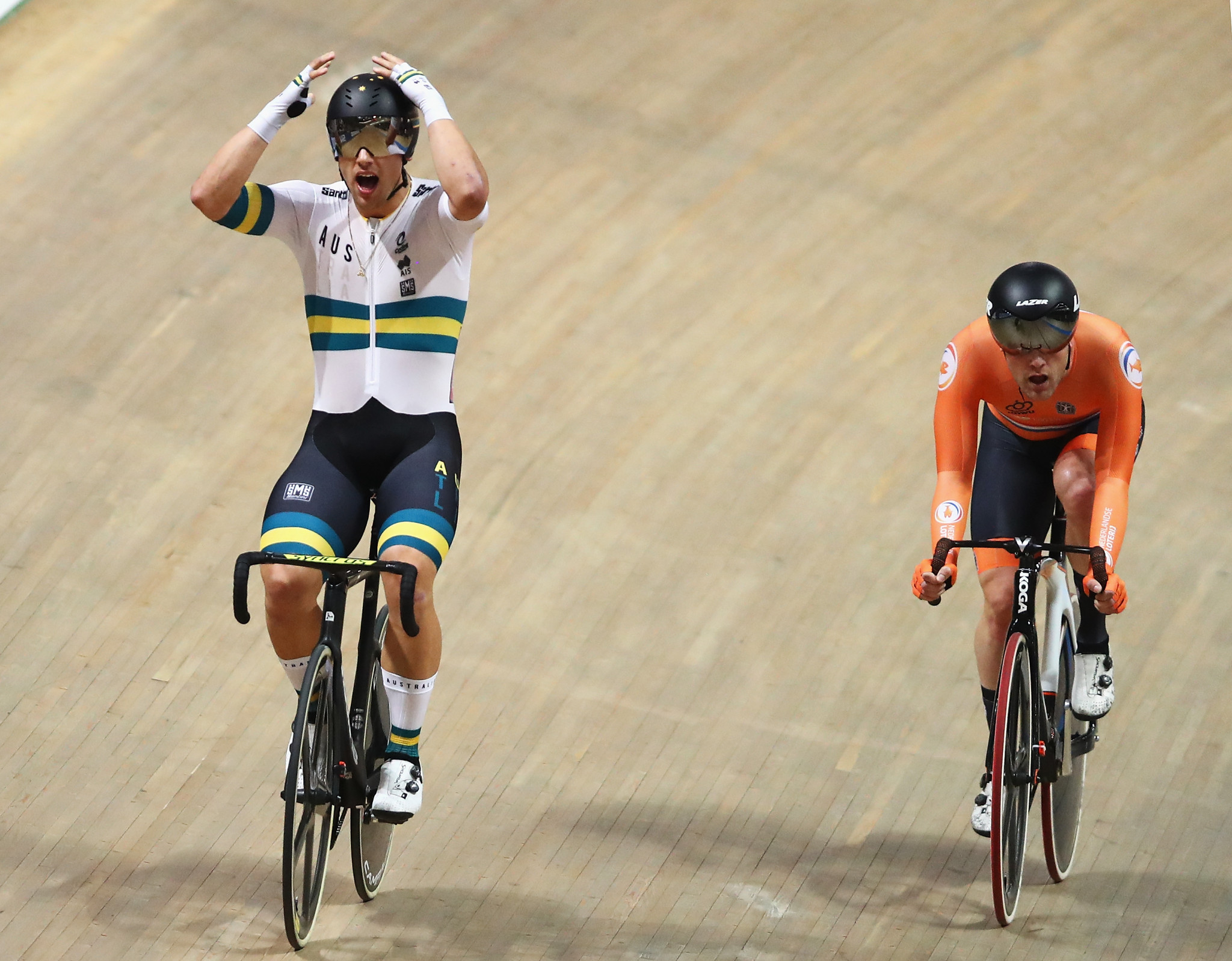 Sam Welsford won two gold medals inside half-an-hour ©Getty Images