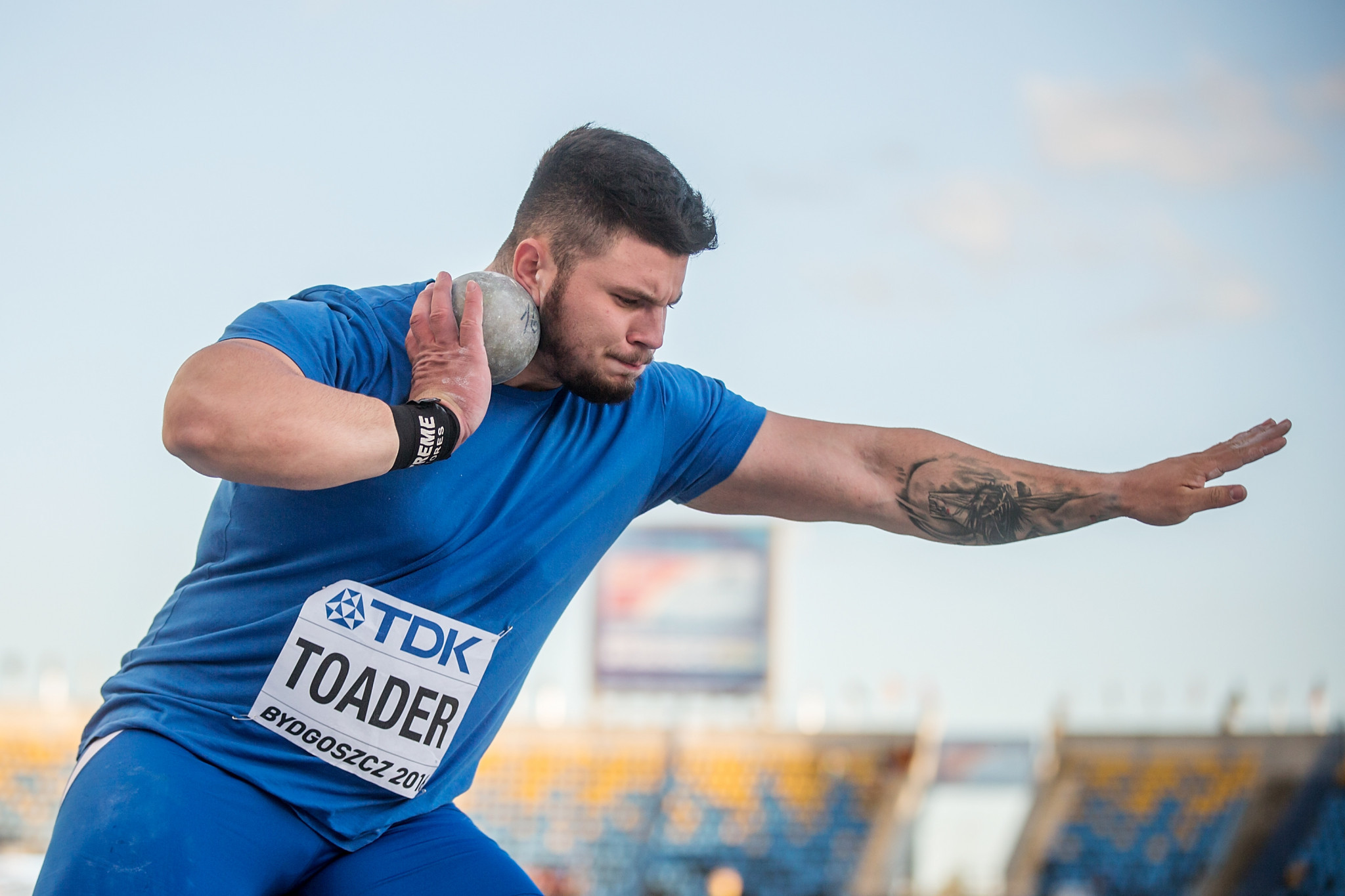 Romania's Andrei Toader has become the first second shot put gold medallist at the 2016 IAAF World U20 Championships to be stripped of the title after it was revealed he had tested positive for banned drugs before the event ©Getty Images