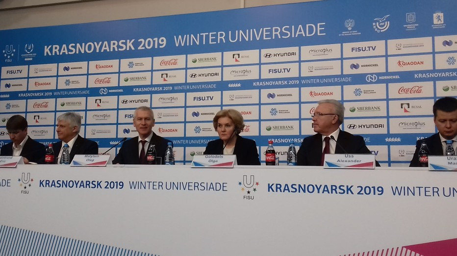FISU President Oleg Matytsin and Russian Deputy Prime Minister Olga Golodets believe the Universiade will leave a legacy in the city ©FISU