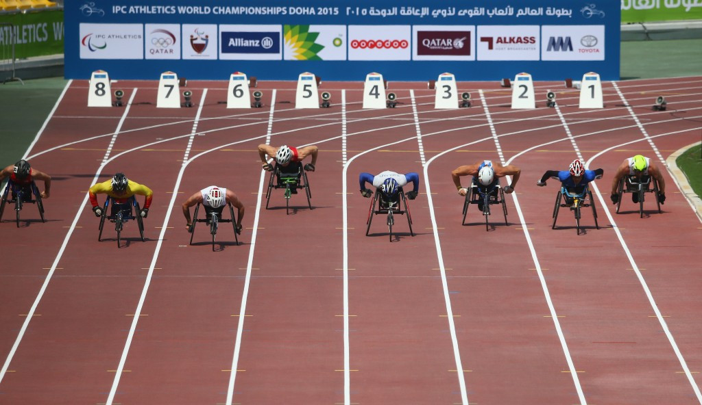 Competition got underway today in Doha at the IPC World Championships ©Getty Images