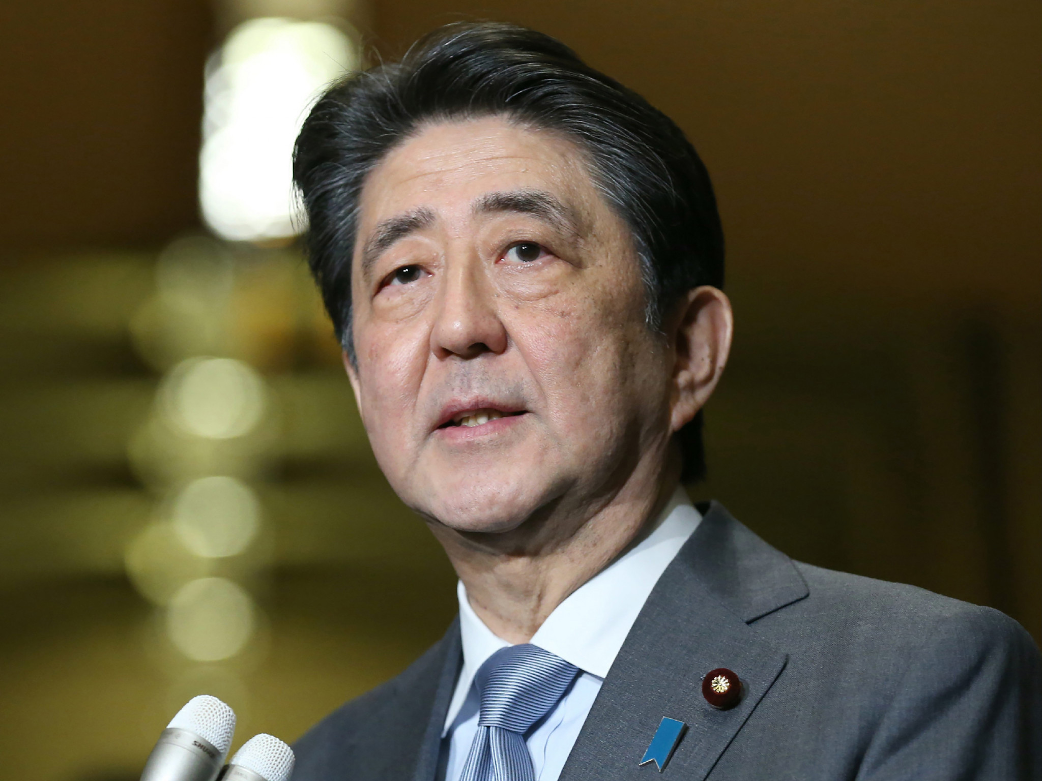 The Cabinet of Japan's Prime Minister Shinzō Abe approved a bill to revise the broadcast law ©Getty Images