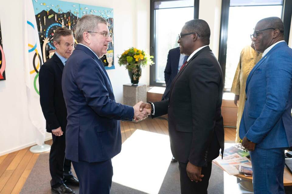 Ghana Olympic Committee President Ben Nunoo Mensah and a small delegation have held talks with the International Olympic Committee President in Lausanne ©GOC
