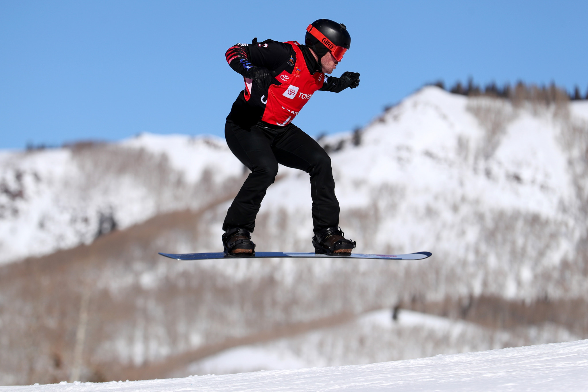 Snowboarder Mick Dierdorff claimed both the individual and team prizes in the United States Olympic Committee's Best of February awards ©Getty Images