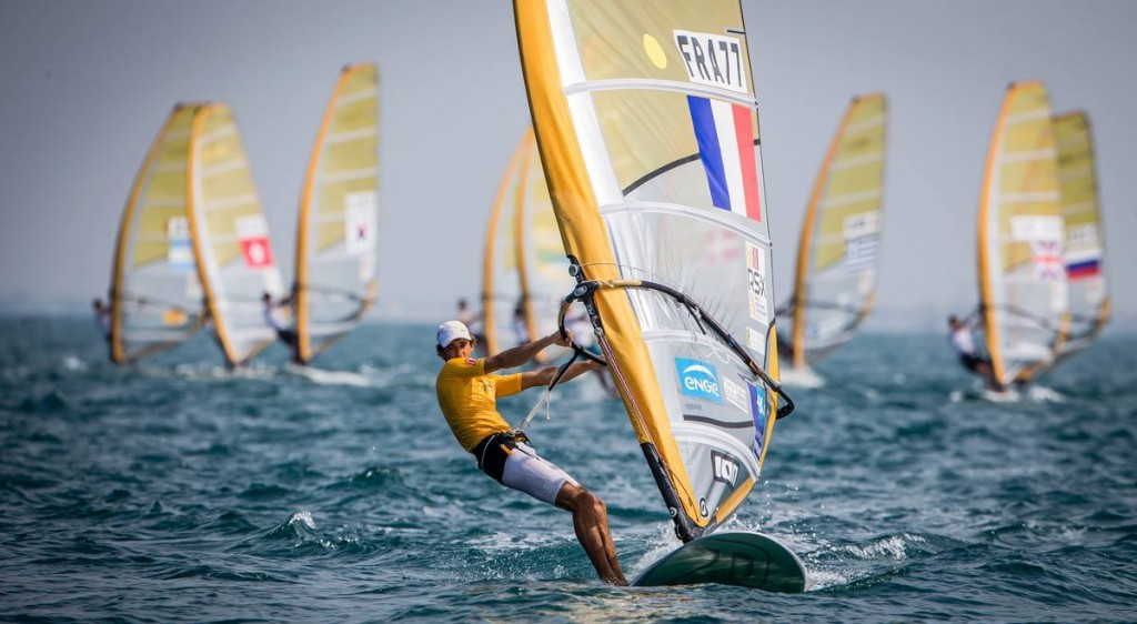 France's Pierre Le Coq faces a battle to hold onto his lead in the men's event
