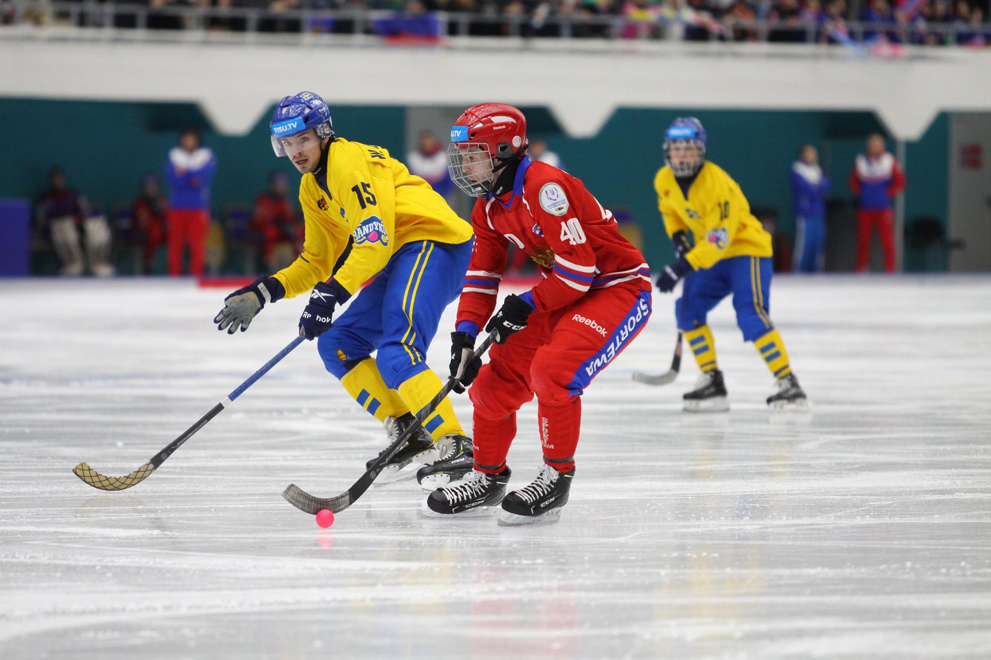 Hosts Russia take gold in the men's bandy final at Krasnoyarsk 2019