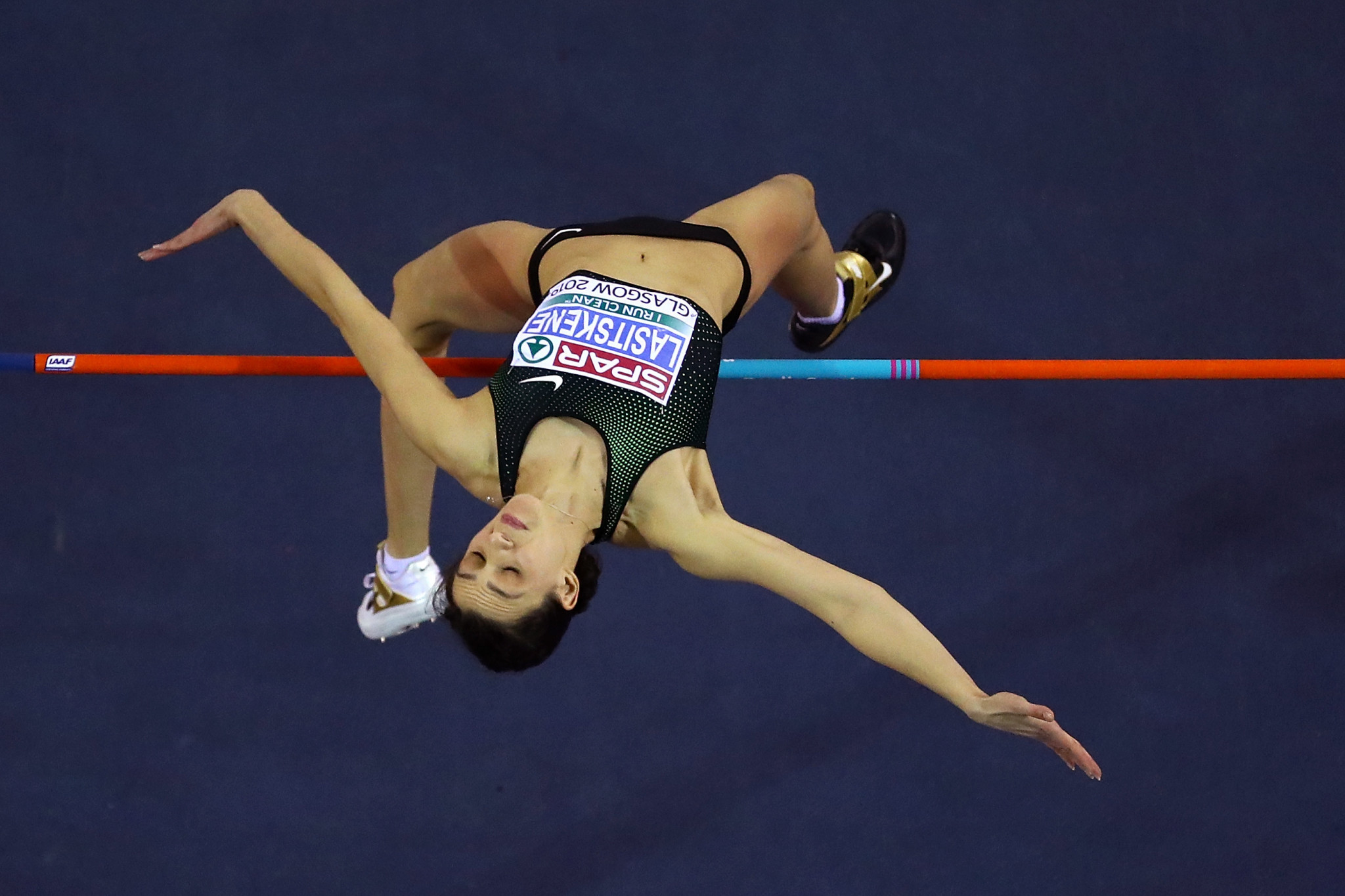 Russian athletes, like high jumper Mariya Lasitskene, allowed to compete at this year's European Indoor Championships in Glasgow, had to take part as Authorised Neutral Athletes ©Getty Images
