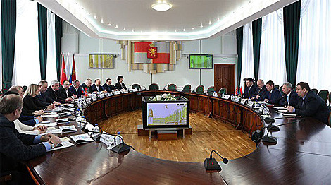 Minsk 2019 delegation visit Krasnoyarsk to learn from Universiade experience