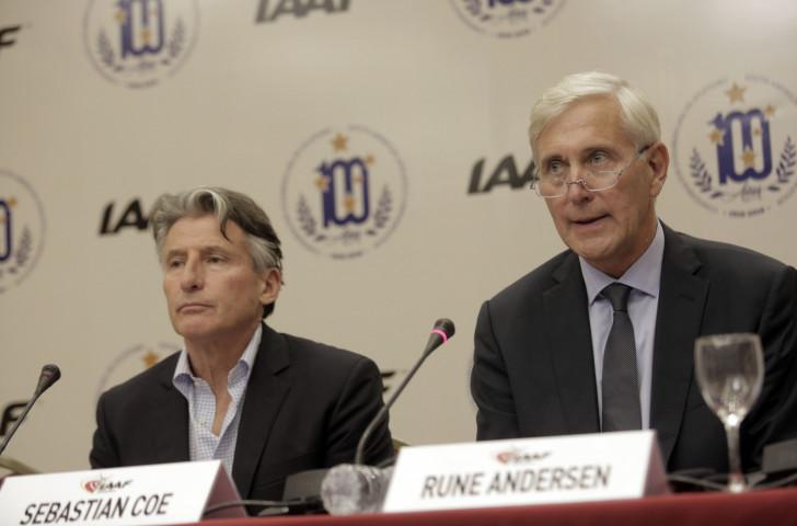 IAAF President Sebastian Coe and IAAF Taskforce head Rune Andersen presented a mixed bill following the weekend's IAAF Council meeting - change, and no change... ©Getty Images
