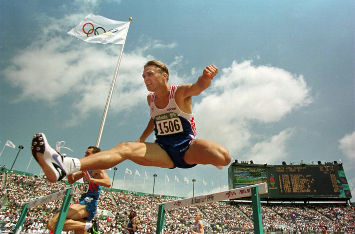 Jon Ridgeon in action over 400m hurdles at the 1996 Atlanta Olympics. Other hurdles now lie before him as newly appointed IAAF chief executive ©Getty Images