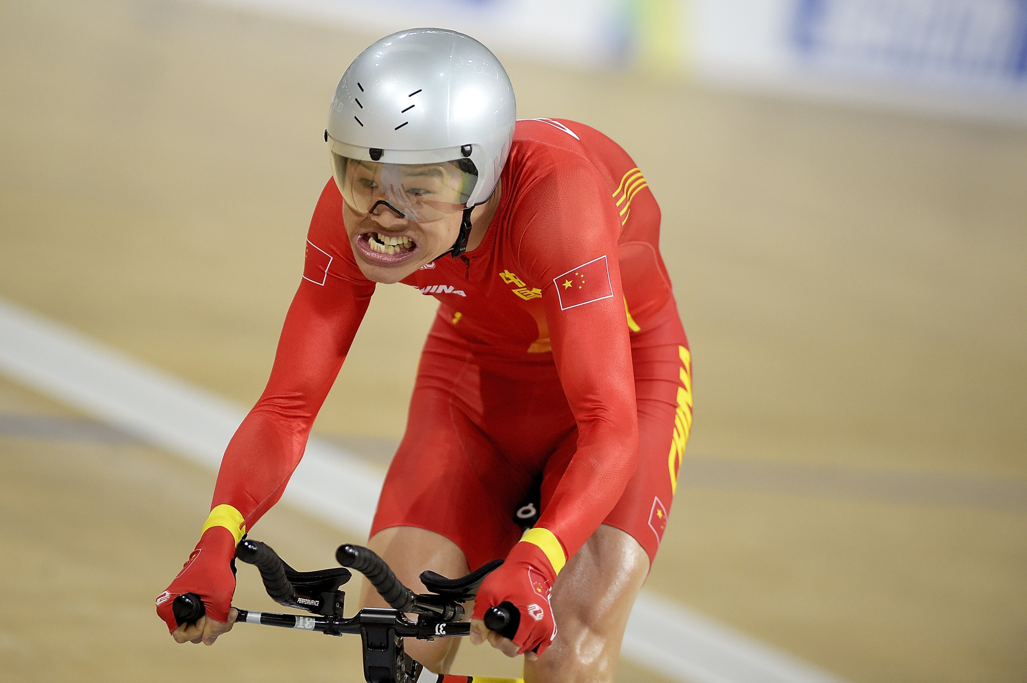 Zhangyu Li was one of two Chinese riders to win gold medals on day two of the UCI Para-cycling Track World Championships ©Getty Images