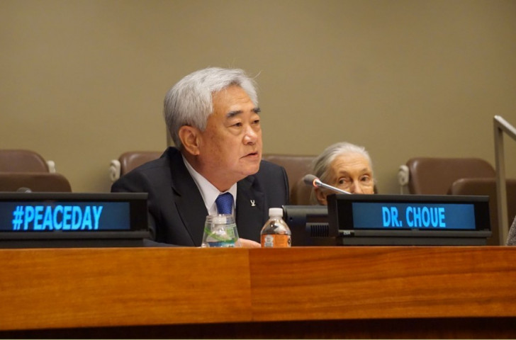 World Taekwondo Federation President Chungwon Choue formally announced the formation of the Taekwondo Humanitarian Foundation at United Nations headquarters in New York City last month