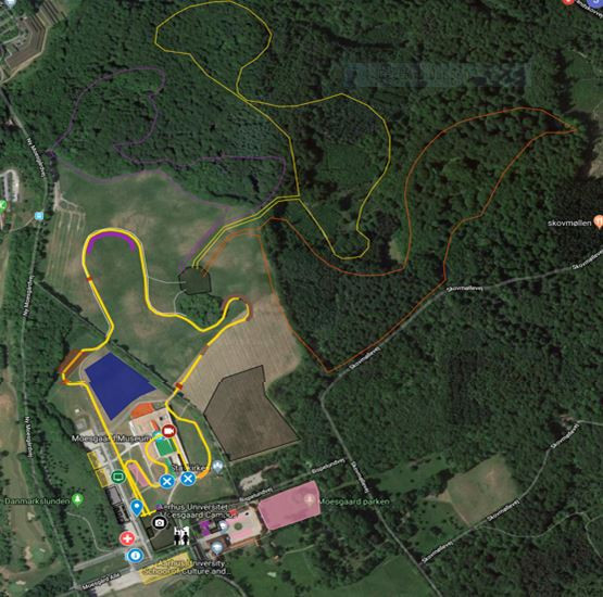 The course for the IAAF World Cross Country Championships at Aarhus offers flexibility over distances for recreational runners ©Aarhus2019