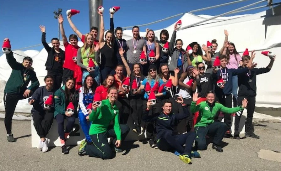 Athletes from 13 countries attend IBSF monobob training camp