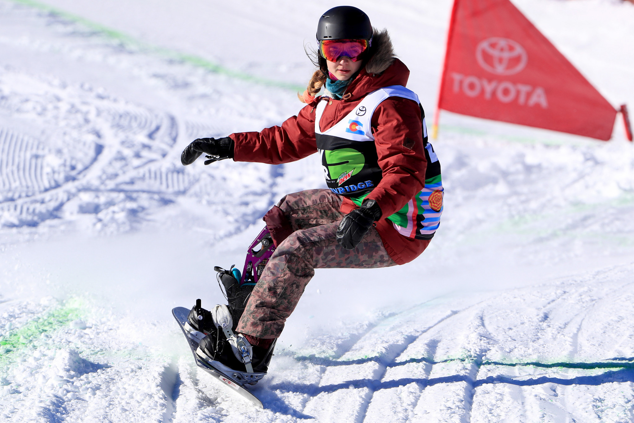 American Brenna Huckaby will be among the star names on show at the World Para Snowboard Championships in Pyha ©Getty Images