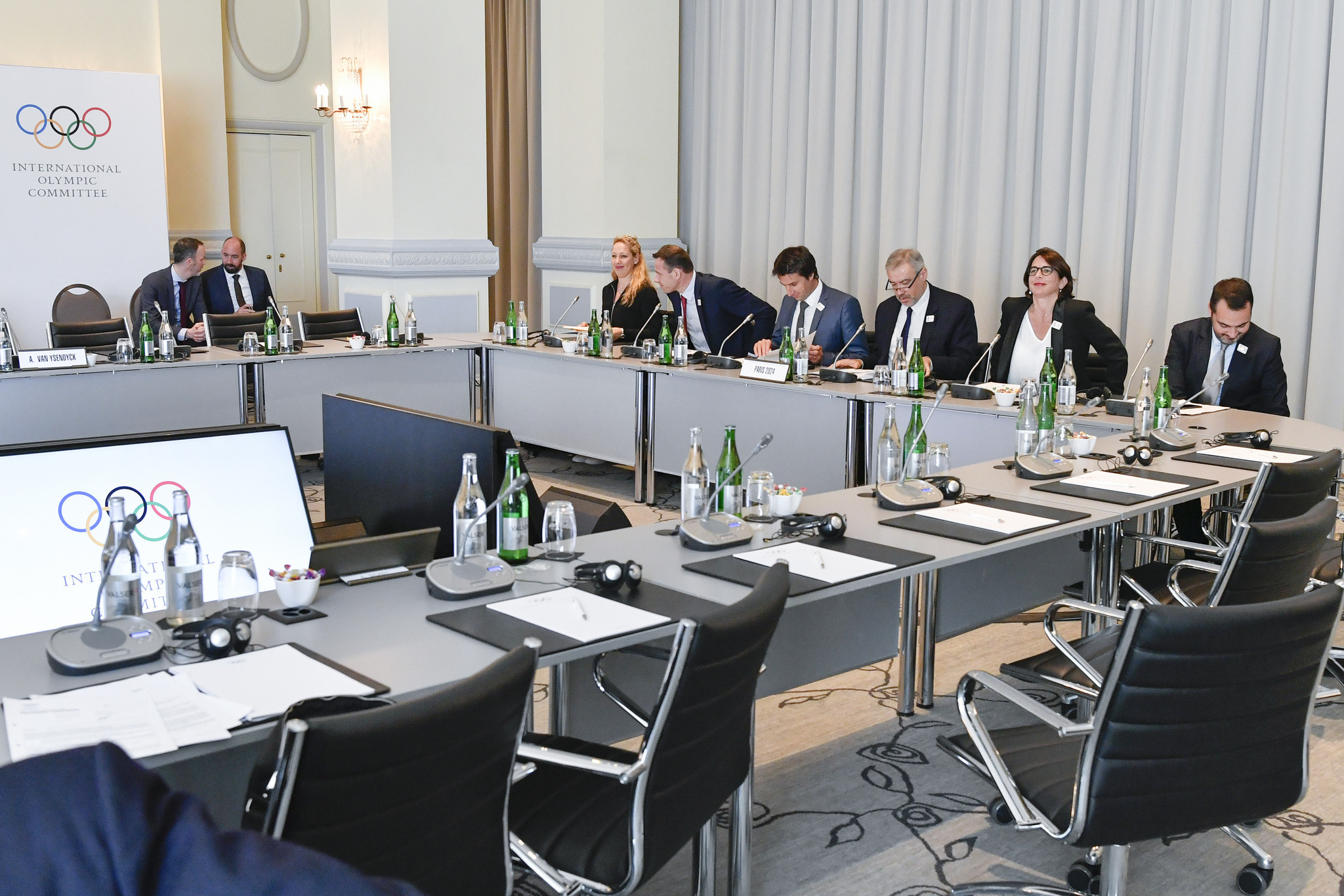 Paris 2024 presented to the IOC Executive Board during its latest meeting in Lausanne this week ©IOC