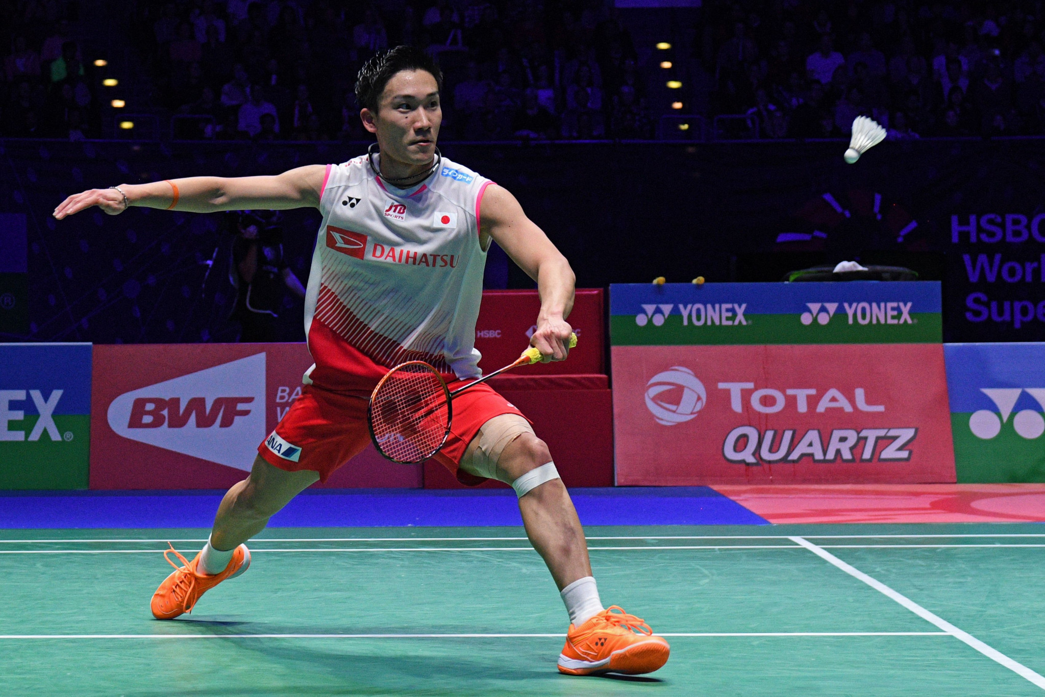 World number one Kento Momota of Japan is hoping to secure his first Badminton World Federation Malaysia Open title ©Getty Images