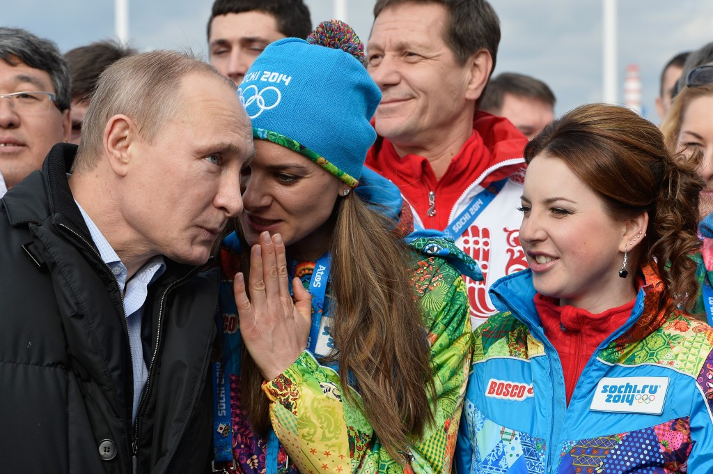 Yelena Isinbayeva, a close friend of Russian President Vladimir Putin, was the Mayor of Athletes' Village at Sochi 2014, despite some controversial comments on Russia's anti-gay law