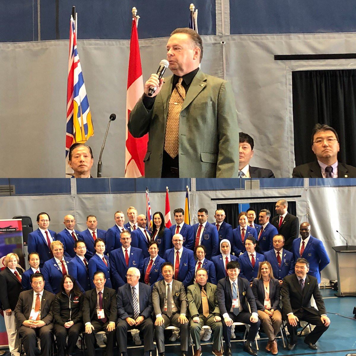 Current President Wayne Mitchell, top, has held the position since 2017 ©Taekwondo Canada/Twitter ©Taekwondo Canada/Twitter