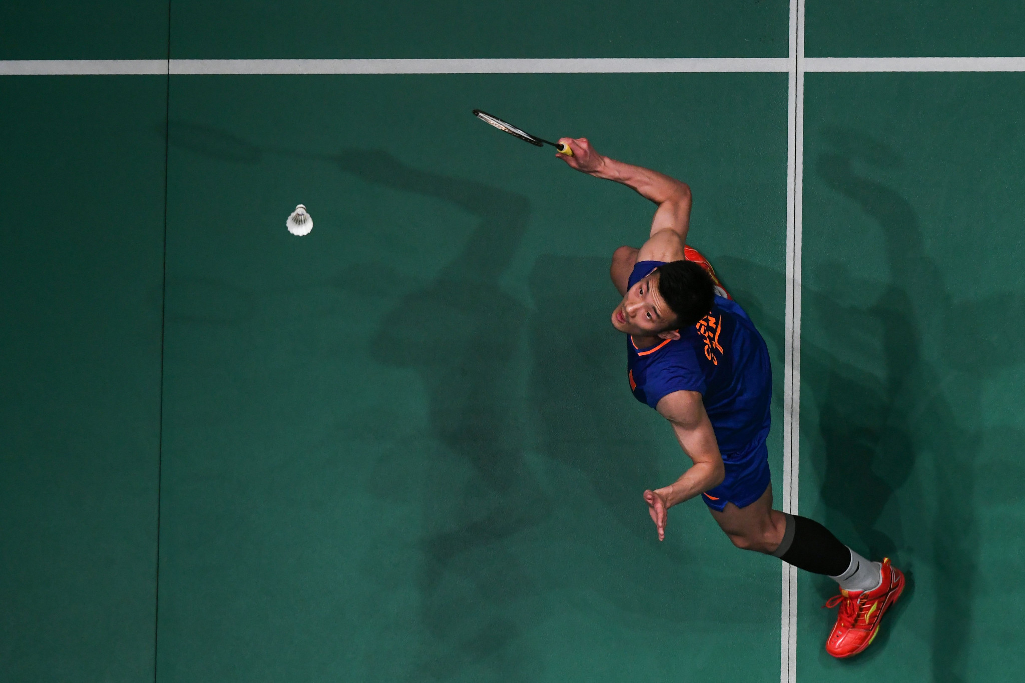 Olympic champion Chen Long secured a place in the men's singles final ©Getty Images