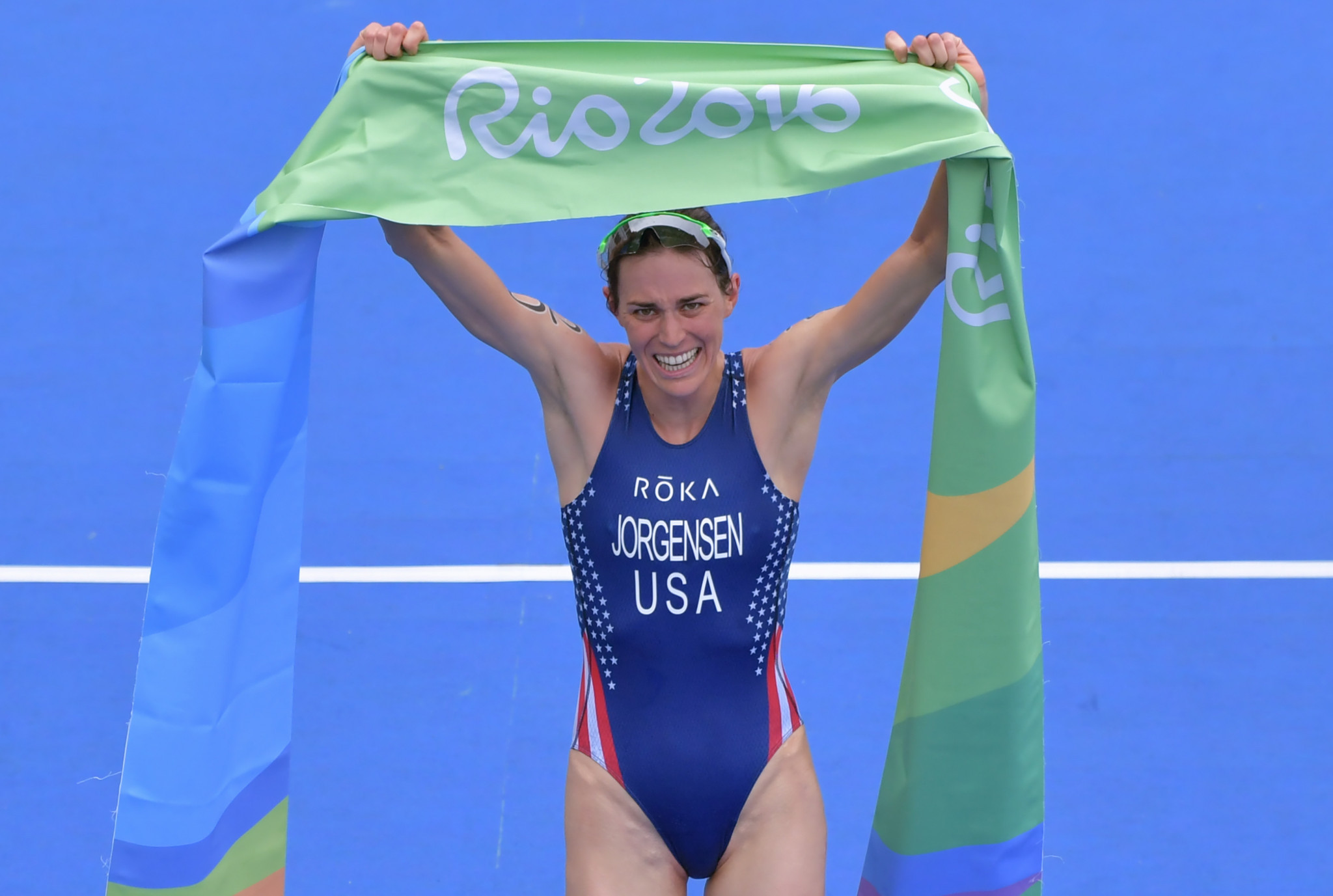 The highlight of Barry Siff's time as President of USA Triathlon was Gwen Jorgensen winning the United States' first Olympic gold medal in the sport at Rio 2016 ©Getty Images