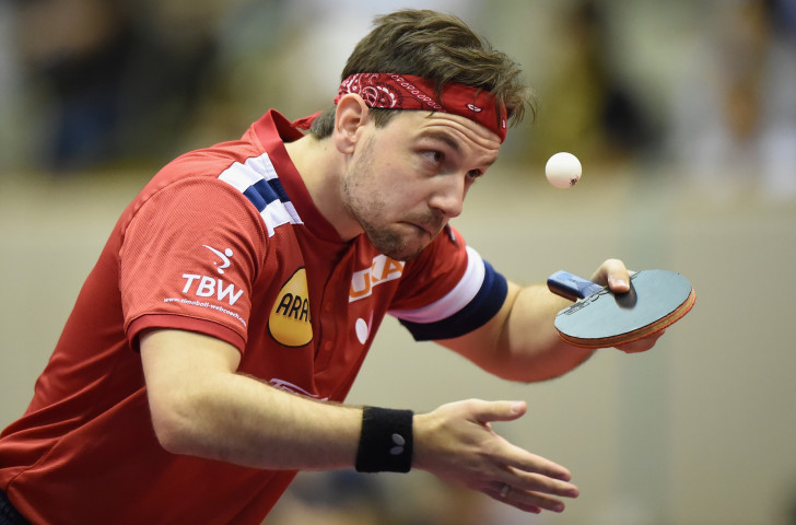 Germany's evergreen 38-year-old former world number one Tim Boll is to table tennis what Roger Federer is to tennis - and is capable of beating anyone in Budapest on his day ©Getty Images