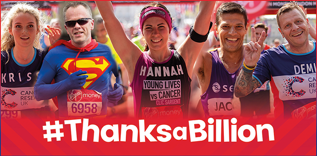More than £1 billion will have been raised for charity following this year's London Marathon ©London Marathon