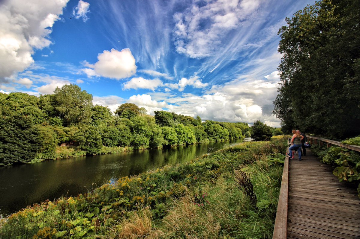 Nearly £6 million has been spent on turning Cuningar Loop from derelict wasteland into a park aimed at encouraging outdoor pursuits as part of the legacy of Glasgow 2014 ©Clyde Gateway