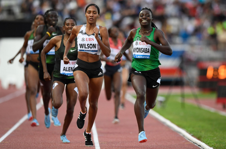 Burundi's Francine Niyonsaba, right, who took Rio 2016 800m silver behind Caster Semenya, said last month that she was also an athlete who fell into the DSD category ©Getty Images