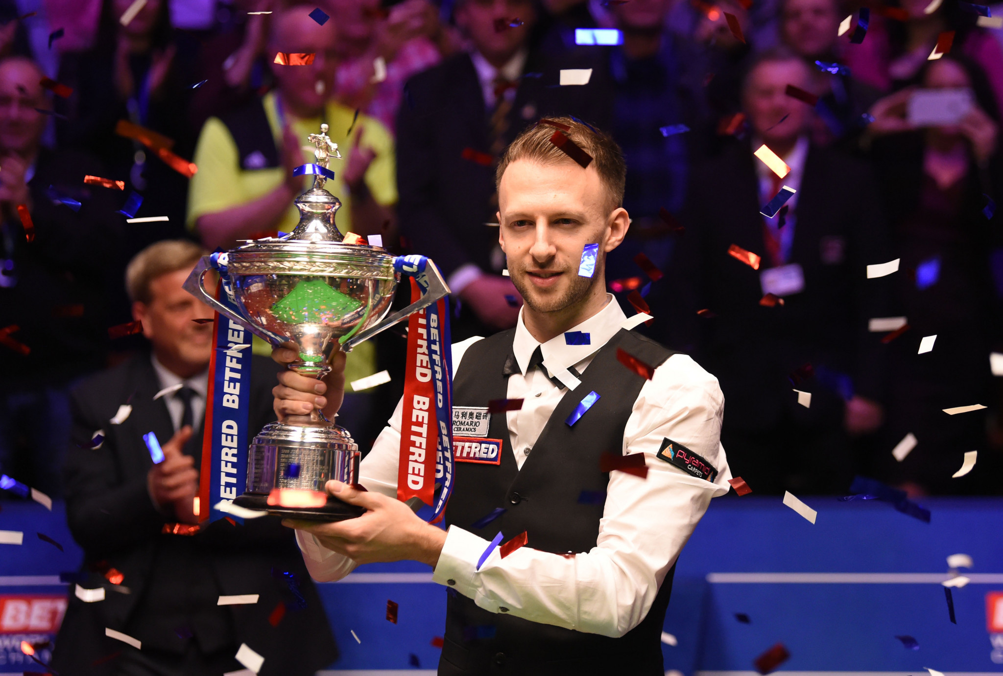 Judd Trump may defend his World Snooker Championship title in front of spectators next month if circumstances allow ©Getty Images